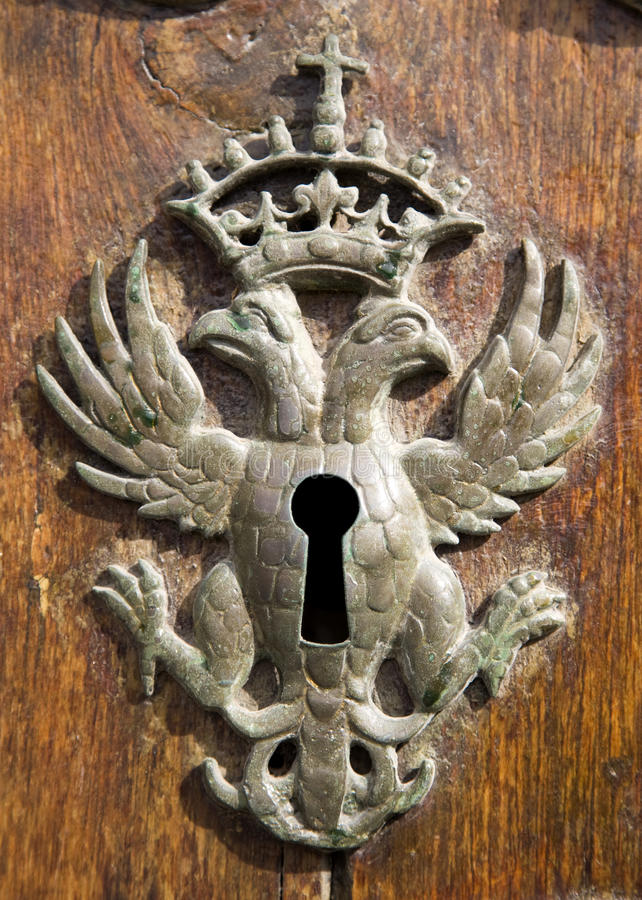Antikes Schlüsselloch lizenzfreies stockbild