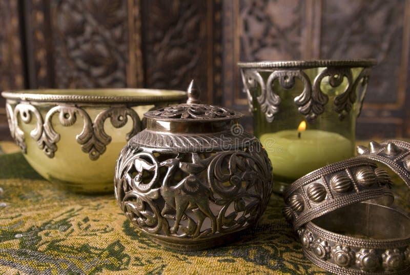 Antikes von Oman Silber stockbilder