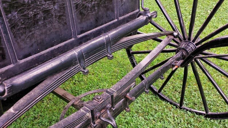 Antikes Wagen-Rad und Axle Detail stockbild