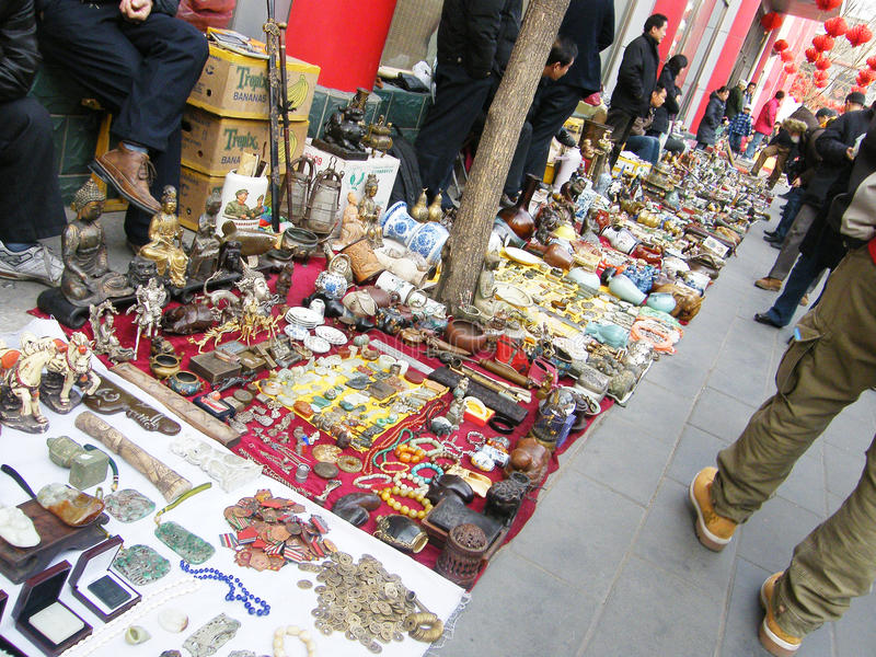 Antikmarkt in Panjiayuan lizenzfreie stockfotos