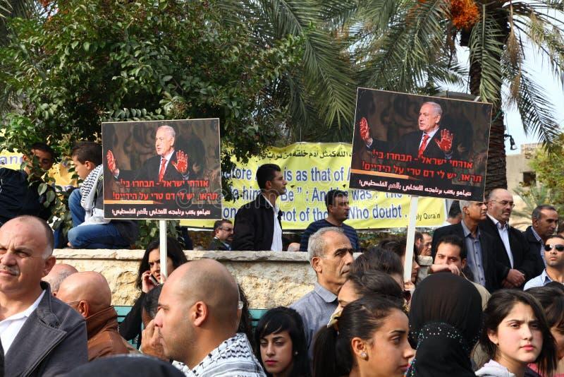 Download Antikriegdemonstration, Die Gaza In Nazareth Unterstützt Redaktionelles Stockfoto - Bild von anti, mittlere: 27730023
