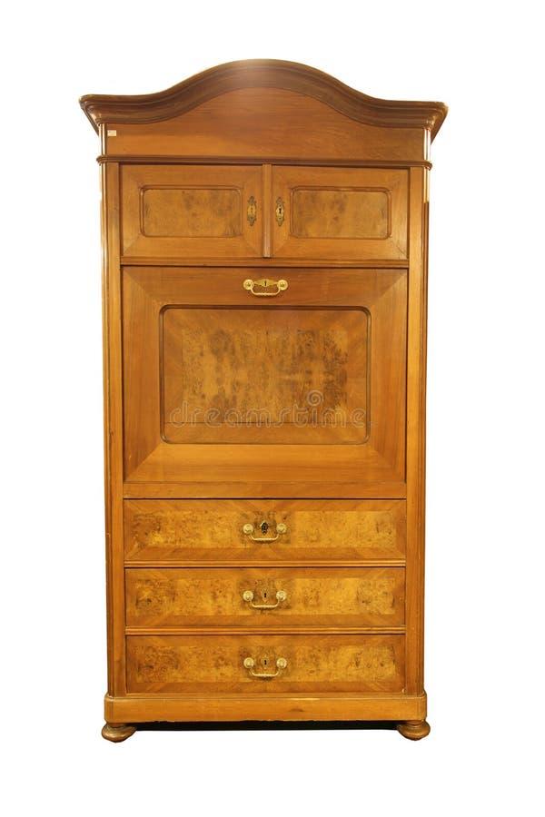 Antikt barockt kabinett som isoleras på vit royaltyfri foto