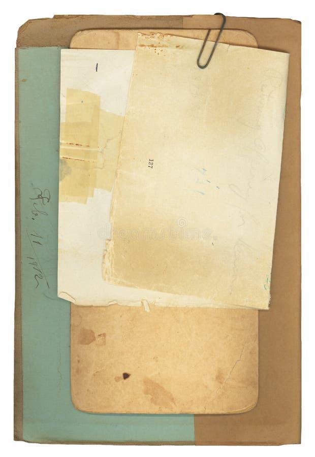 antikt bokanmärkningspapper royaltyfri bild