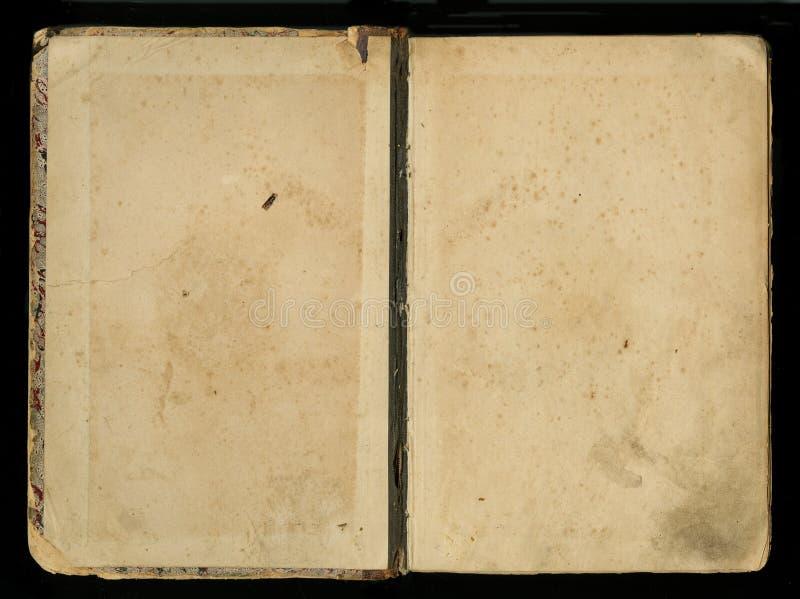 Antikt bokomslag för tappningdagboktidskrift royaltyfri bild
