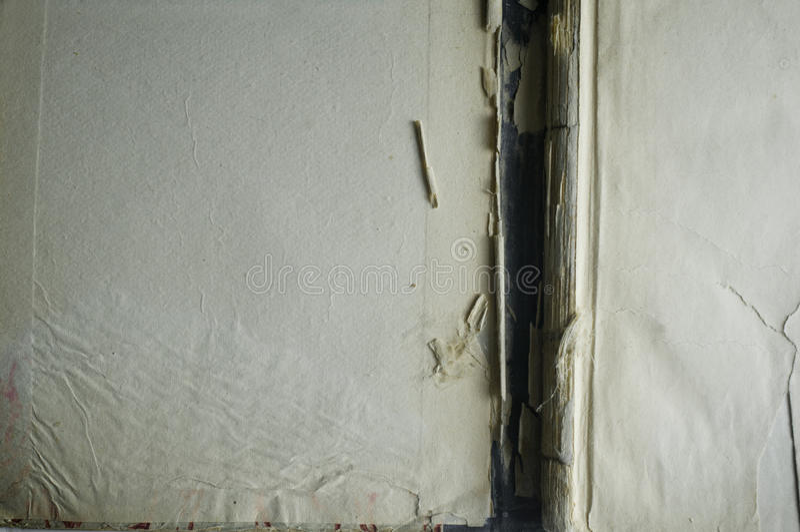 Antikt bokomslag inom, öppnat, mellanrum royaltyfri foto