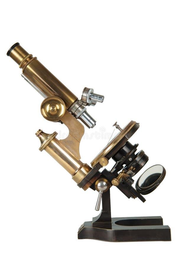Antikt bronsmikroskop royaltyfri bild