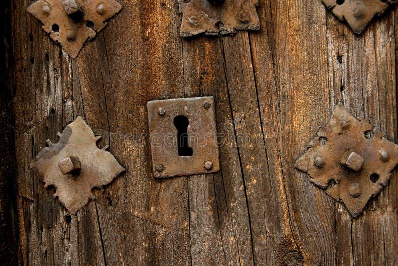 antikt dörrlås arkivfoton