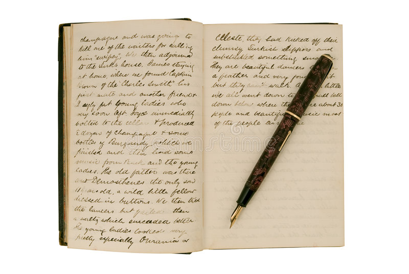 antikt dagboksidalopp arkivfoto