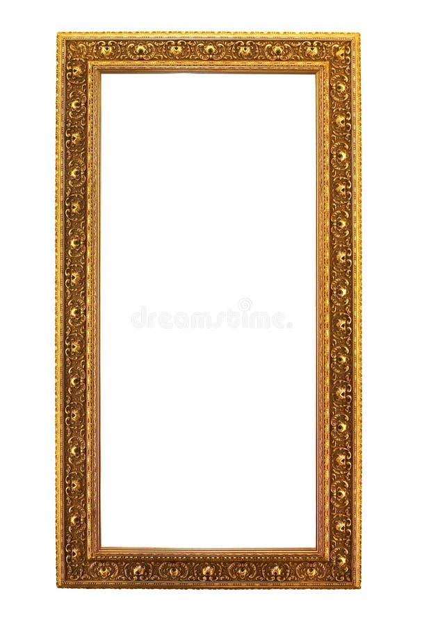 antikt guld- trä royaltyfri fotografi