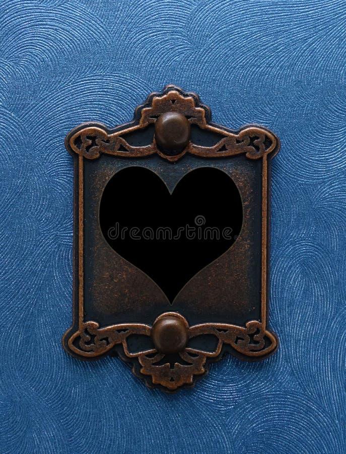 Antikt hjärtalås royaltyfria bilder