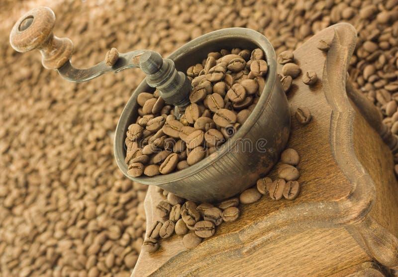 antikt kaffe mal arkivbild