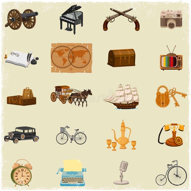 Antikt objekt royaltyfri illustrationer