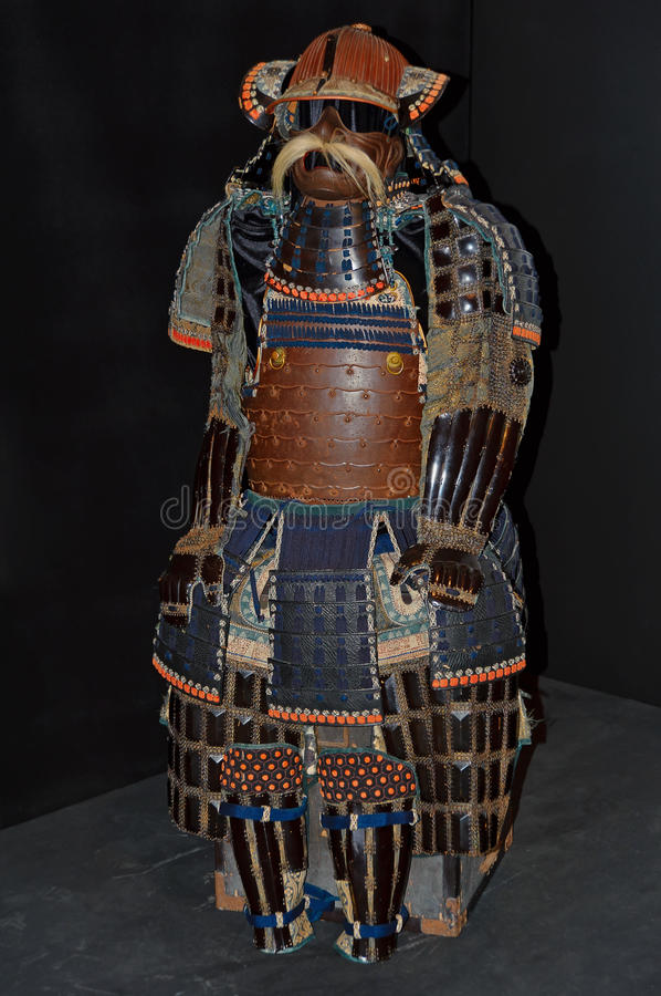Antikt samurajo-yoroipansar royaltyfri fotografi
