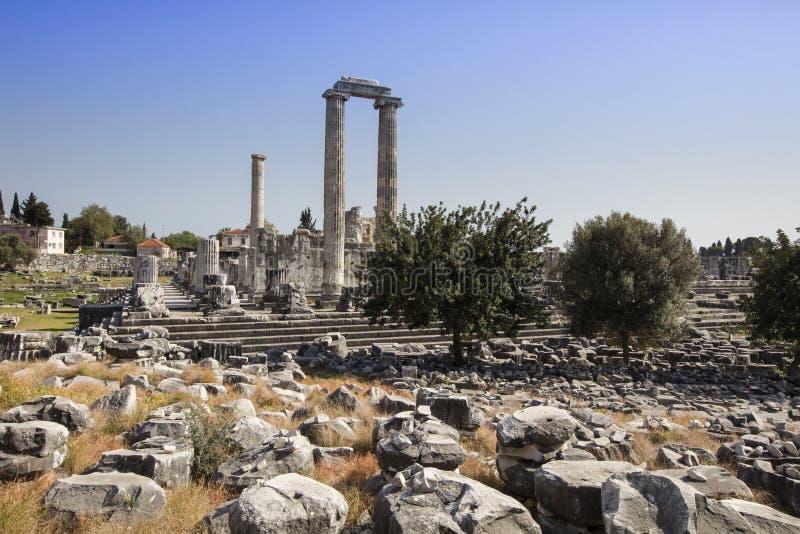 antikt tempel för apollo stadsdidyma royaltyfri bild