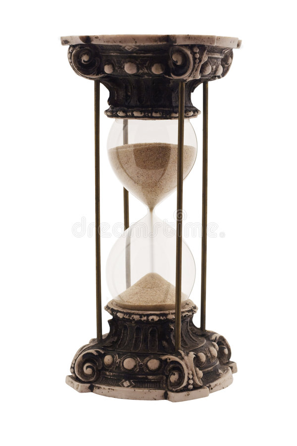 antikt timglas fotografering för bildbyråer