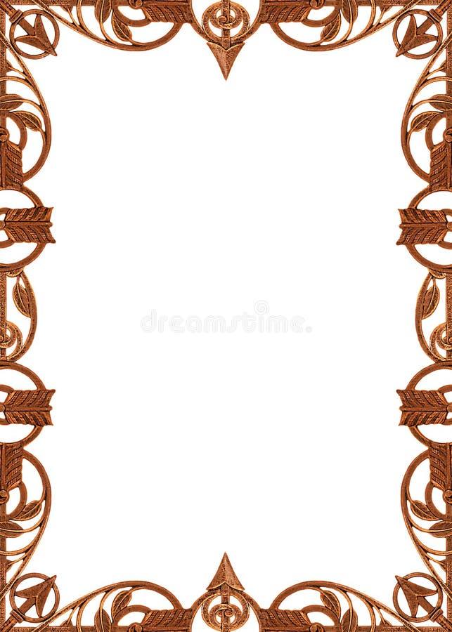 antikvitet som rammetalwork royaltyfri illustrationer
