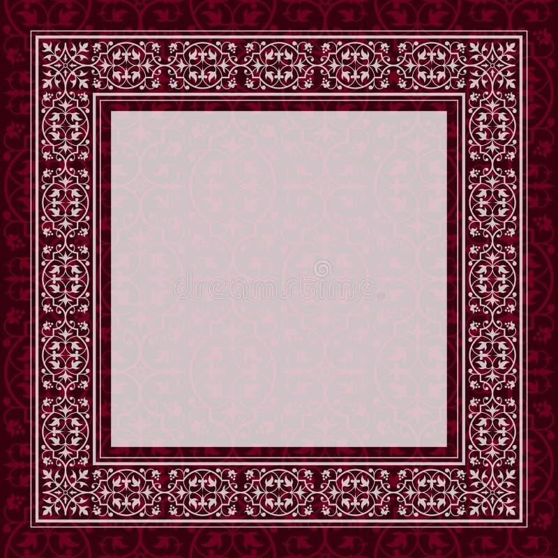 Antikviteten inramar gränsar på en röd bakgrund vektor illustrationer