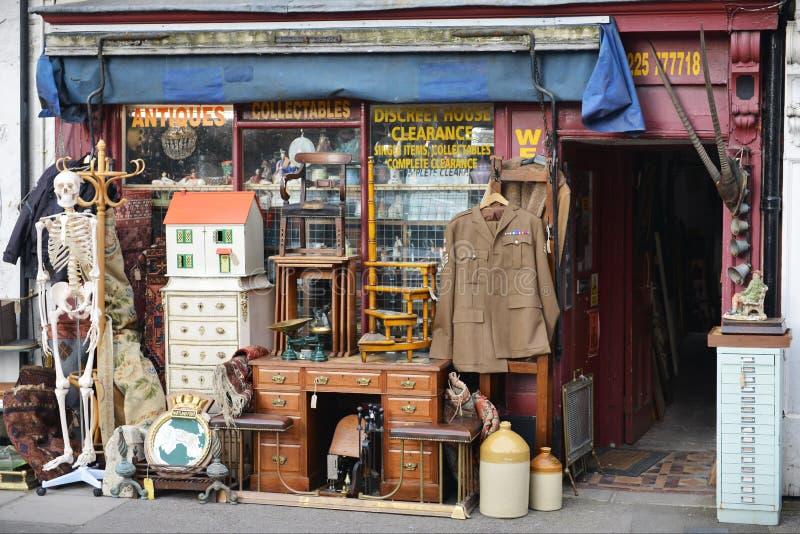 Antikviteter shoppar royaltyfri fotografi