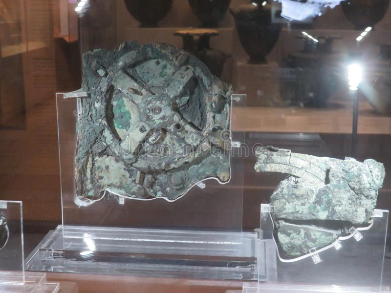 Antikythera mechanizm jest starożytnego grka analogu komputerem fotografia royalty free