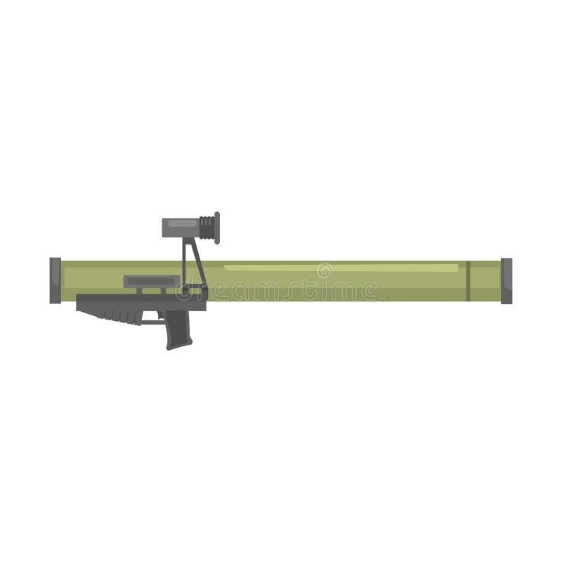 Antilanceerinrichting van de tank de raket aangedreven granaat, Bazooka Militaire wapen vectorillustratie vector illustratie