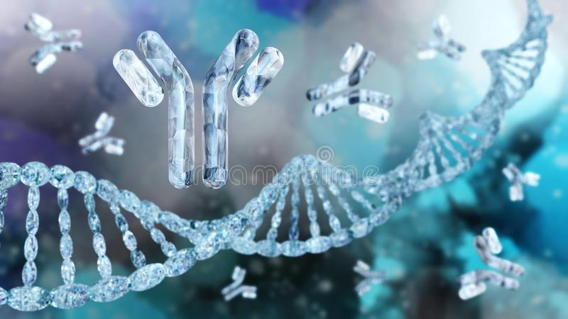 Antilichamen, immunoglobulins, immuun royalty-vrije illustratie