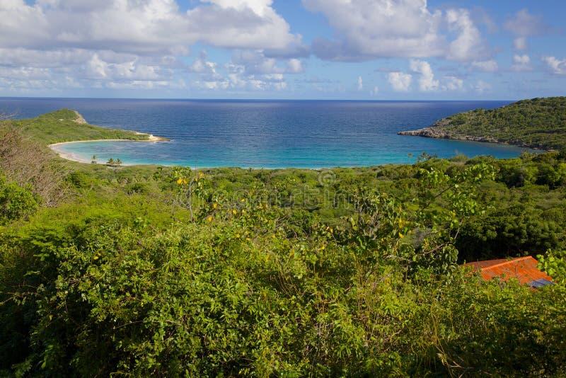 Antillen, Karibische Meere, Antigua, St Philip, Half Moon Bay lizenzfreie stockfotos