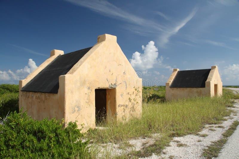 antilles bonaire förlägga i barack den nederländska slaven arkivbild