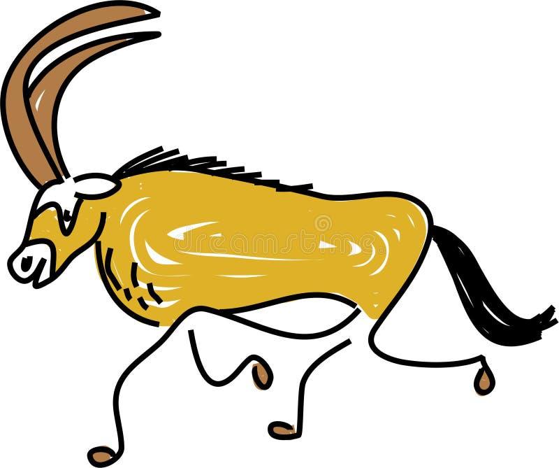 Antilope illustrazione vettoriale