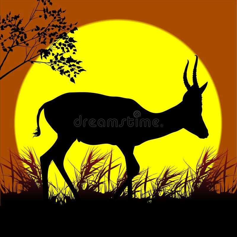 Antilope di camminata illustrazione di stock