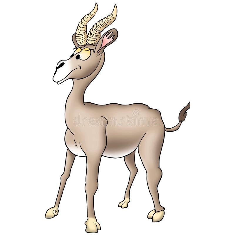 Antilope divertente illustrazione di stock