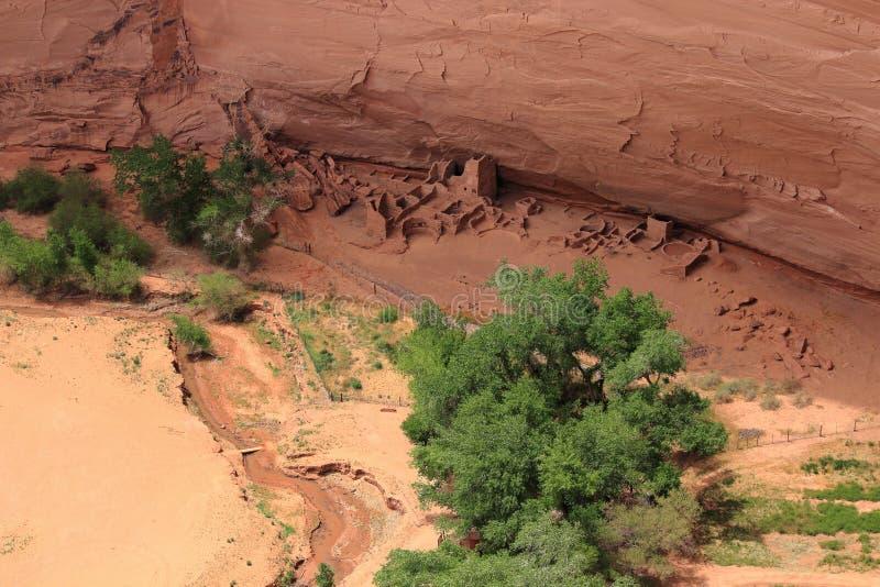 Antilopen-Haus ruiniert in Nationalpark Canyon de Chelly, Arizona stockfotos