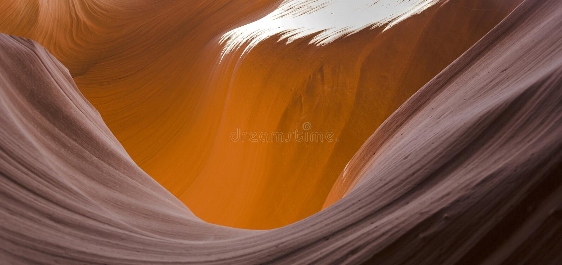 Antilopencanion dichtbij pagina, de canion van de wereld beroemdste groef stock foto's