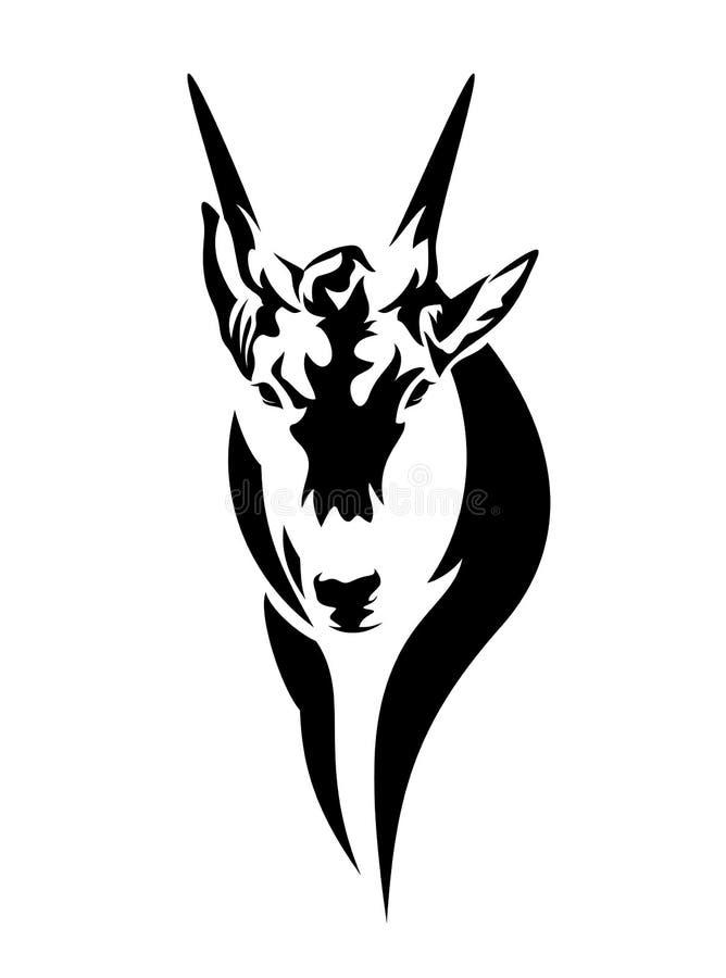 Antilophuvud royaltyfri illustrationer