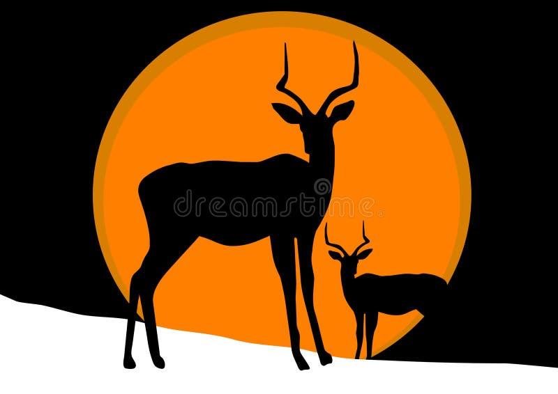 antilopsnow stock illustrationer