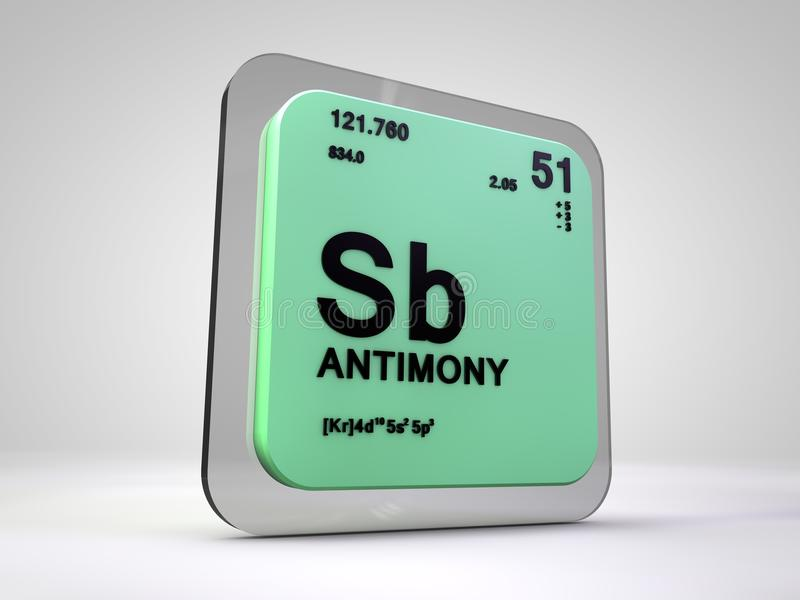 Antimony sb chemical element periodic table stock illustration antimony sb chemical element periodic table 3d render urtaz Image collections