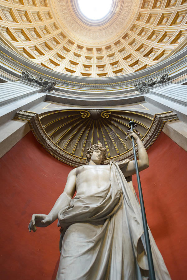 Antinous marble statue royalty free stock photography