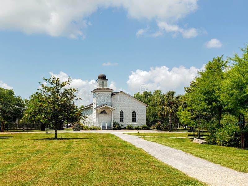 Antioch Baptist Church at Whitney Plantation, St. John the Baptist Parish in Louisiana. Antioch Baptist Church at Whitney Plantation, located in Edgard, St. John stock photography