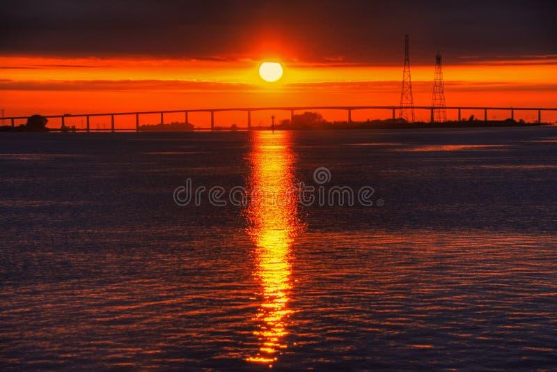 Antioch-Brücken-Sonnenaufgang stockfotos