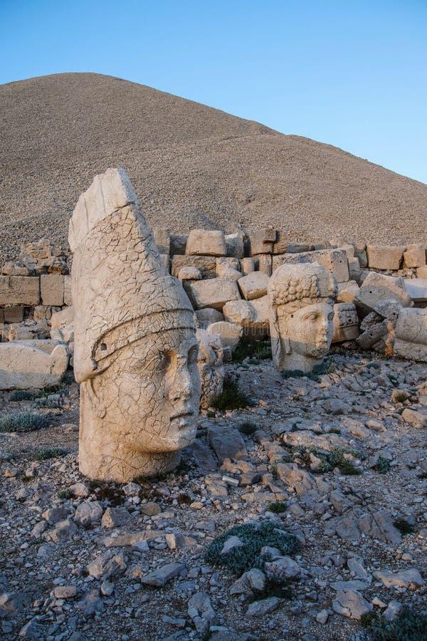 Antiochus I Commagene. Giant head of Antiochus I Commagene, tumulus of Nemrut Dag, Turkey royalty free stock images