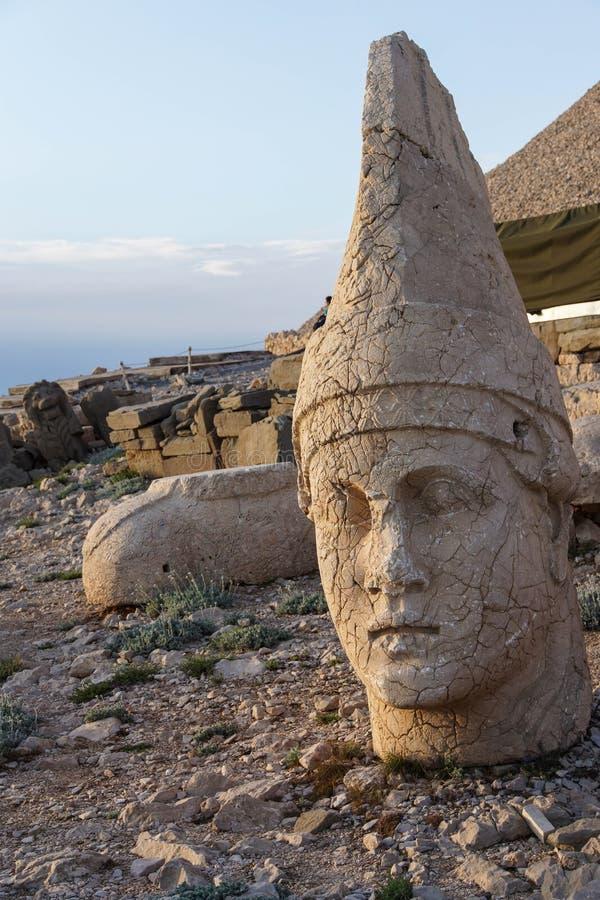 Antiochus I Commagene. Giant head of Antiochus I Commagene, tumulus of Nemrut Dag, Turkey royalty free stock photos