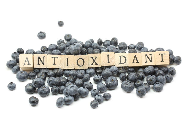 Antioxidant Blueberries royalty free stock image