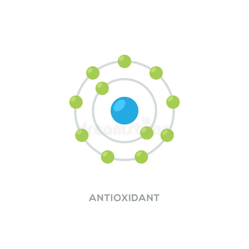 Free Antioxidant Vector Icon, Radical Free Oxidant Molecule Stock Images - 167518084
