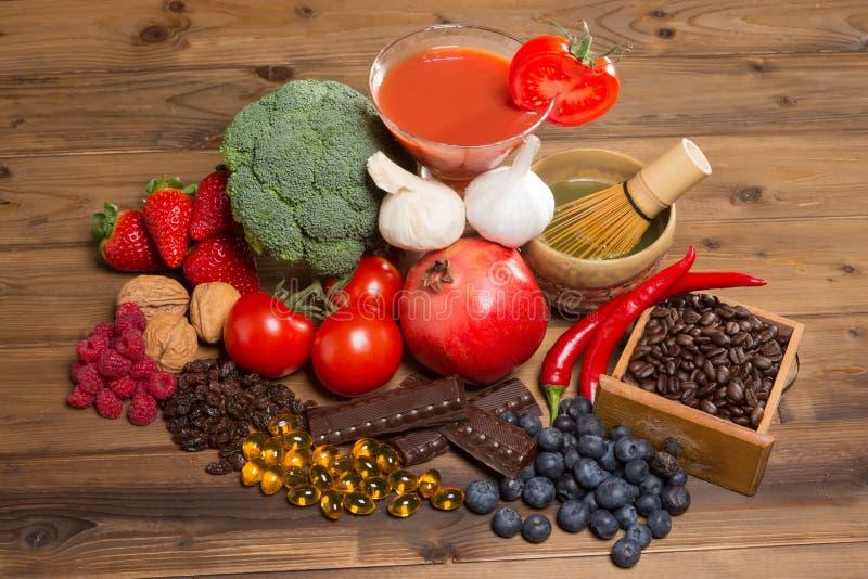 Antioxidantes para la buena salud imagenes de archivo