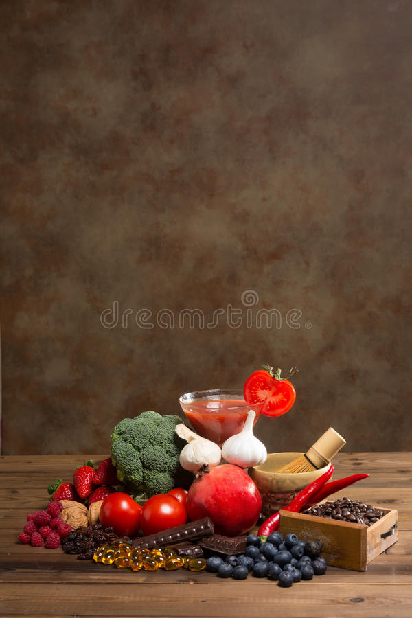 Antioxidants with copy-space