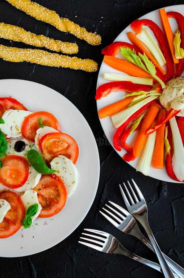 Antipasti deliciosos do vegetariano imagens de stock royalty free