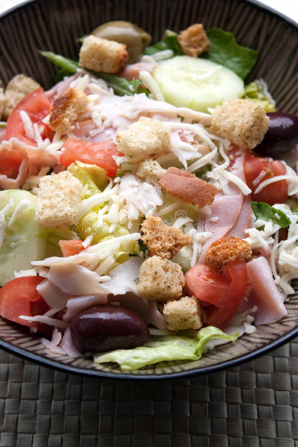 Download Antipasto Chefs Salad stock photo. Image of bowl, antipasto - 13751788