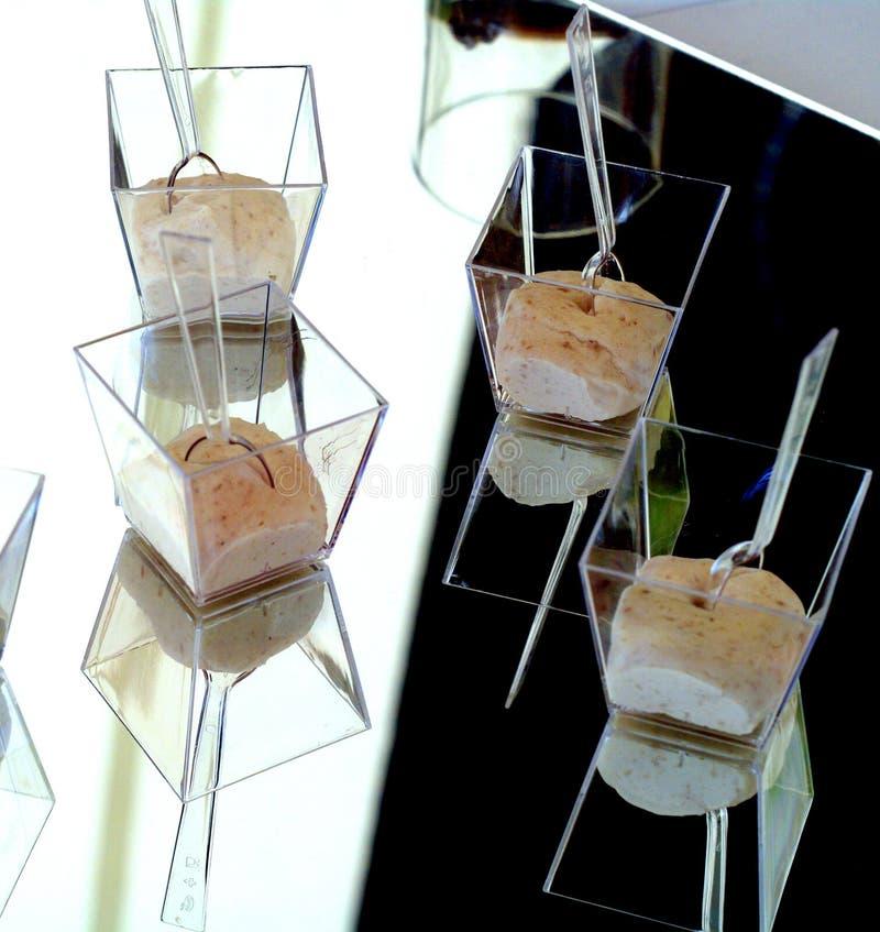 Antipasto - crema batida del jamón foto de archivo libre de regalías