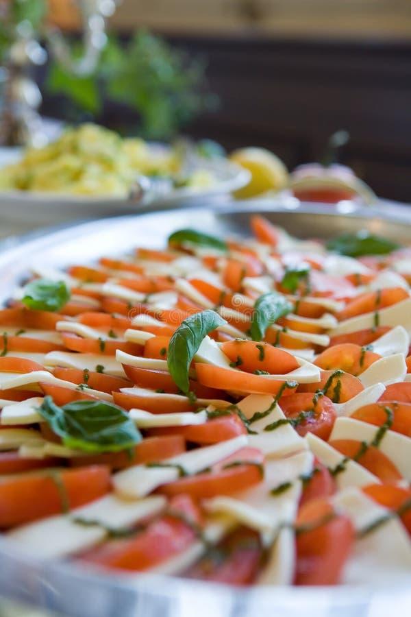 Antipasto de tomate et de fromage   photographie stock libre de droits