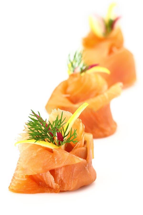Antipasto dei salmoni affumicati fotografia stock libera da diritti