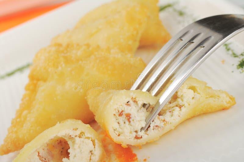 Antipasto: Empanada de Queso de Cabra immagine stock